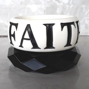 Faith Acrylic Bangles Bracelets Set